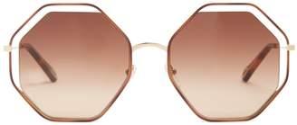Chloé Poppy hexagon-frame sunglasses