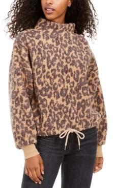 Hippie Rose Juniors' Mock-Neck Sherpa Pullover