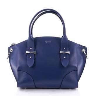 Alexander McQueen Blue Leather Handbag