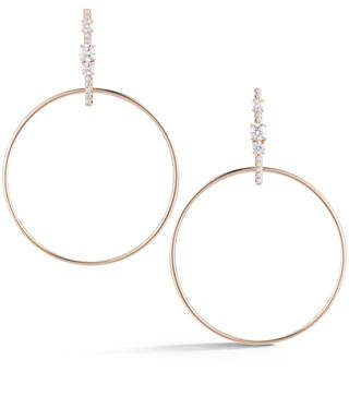 Jemma Wynne Prive Diamond Hoop Earrings in 18K Gold XVsAoWW2