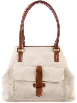 Loro Piana Leather-Trimmed Shoulder Bag