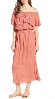 LIRA Marissa Floral Print Off the Shoulder Dress