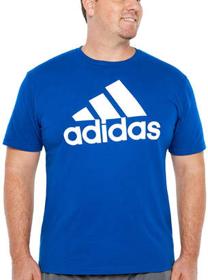 adidas Crew Neck Short Sleeve Moisture Wicking T-Shirt-Athletic
