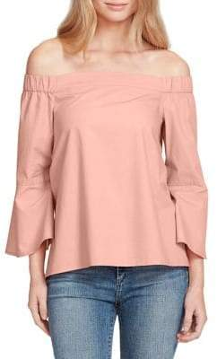Jessica Simpson Plus Off-the-Shoulder Bell Sleeve Top