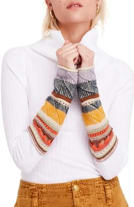 Free People Mixed-Up Cuff Sweater