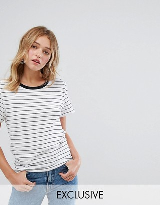 Monki Stripe Boyfriend T-Shirt $13 thestylecure.com