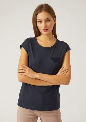 Emporio Armani T-Shirt With Logo Patch