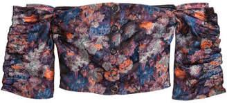 H&M Jacquard-patterned Blouse - Blue
