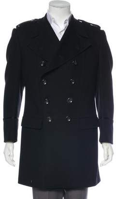 Gucci Wool Double-Breasted Overcoat
