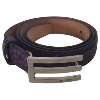 Etro Purple Leather Belts