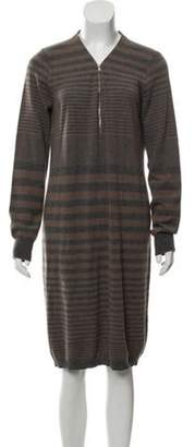 Les Copains Cashmere Knit Dress Brown Cashmere Knit Dress