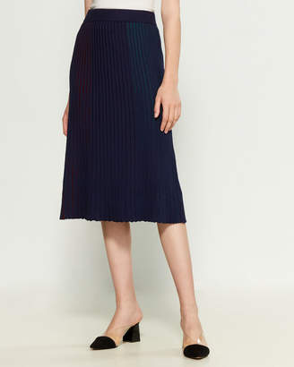 YAL New York Pleated Color Skirt