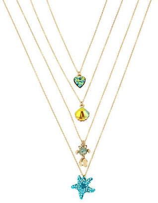 Betsey Johnson Sealife Crystal Pendant Necklace