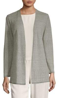 Eileen Fisher Textured Open Cardigan
