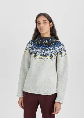 Acne Studios Sirus Icelandic Sweater Light Grey Combo