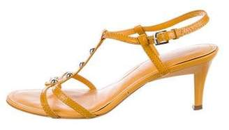 Tod's Patent Ankle-Strap Sandals