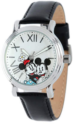 EWatchFactory Disney Mickey Mouse & Minnie Mouse Women Shiny Silver Vintage Alloy Watch