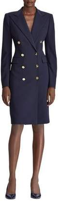 Ralph Lauren Wellesley Double-Breasted Wool Coat Dress