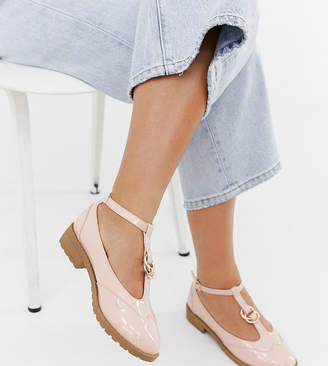 6ce4f14767cb Asos Design DESIGN Wide Fit Maxy double ring flat shoes