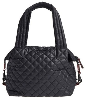MZ Wallace 'Medium Sutton' Quilted Oxford Nylon Shoulder Tote $225 thestylecure.com