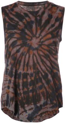 Raquel Allegra printed sleeveless T-shirt