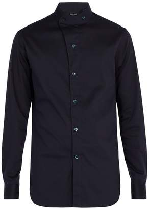 Giorgio Armani Stand-collar cotton-blend shirt