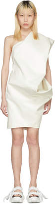 Rick Owens White Bouquet Tunic Dress