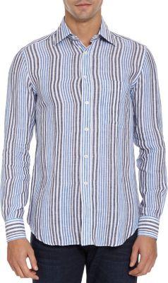 Barneys New York Variegated Stripe Shirt