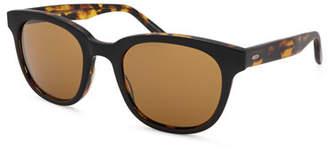 Barton Perreira Men's Thurston Plastic Square Sunglasses