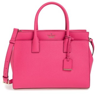 Kate Spade New York Cameron Street - Candace Leather Satchel - Pink $378 thestylecure.com
