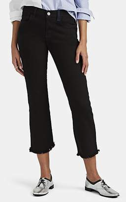 Current/Elliott Women's The Kick Mid-Rise Flared Jeans - Black