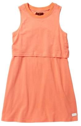 7 For All Mankind Open Back Print Dress (Big Girls)