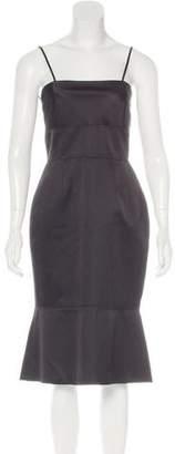 Lela Rose Wool Sheath Dress
