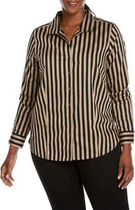 Foxcroft Annie Stripe Sateen Shirt