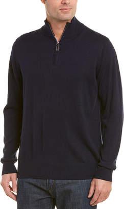 Tailorbyrd 1/4-Zip Wool-Blend Mock Sweater