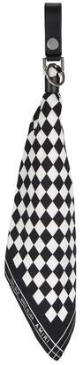 Amiri Silk Checkerboard Bandana Keyring