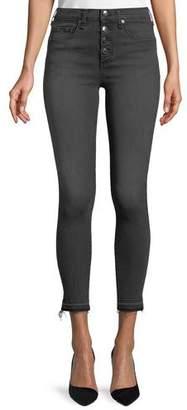 """Veronica Beard Debbie 10"""" Rise Skinny-Leg Jeans w/ Button Fly"""