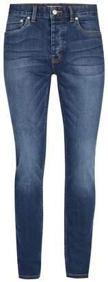 Topman Indigo Stretch Skinny Jeans