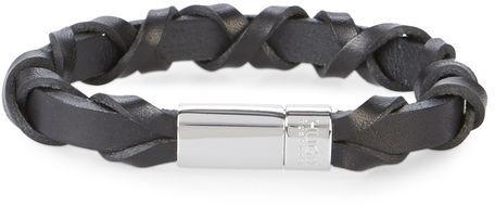 Hugo BossHugo - Hugo Boss Black Woven Leather Bracelet