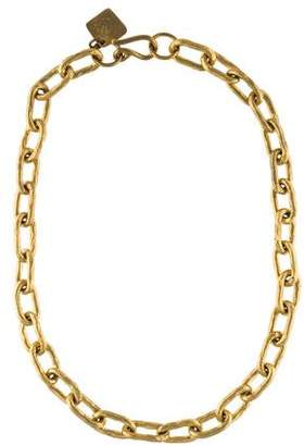 Ashley Pittman Hammered Chain Necklace