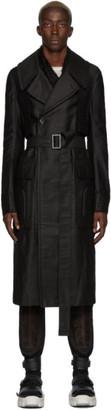 Rick Owens Black Drella Trench Coat