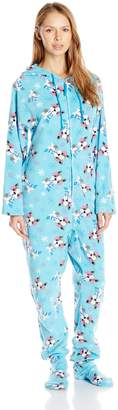 Casual Moments Women's Hooded One Piece Pajama