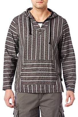 UNIONBAY Men's Baja Striped Cramer Woven Pullover Hoodie