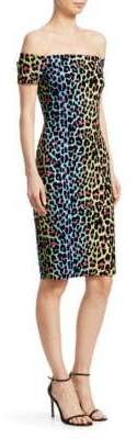 Chiara Boni Lyris Printed Off-The-Shoulder Dress