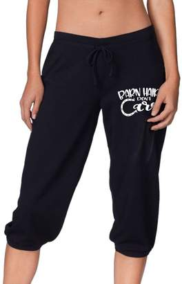 Okbo-7 Women's Barn Hair Don't Care Cropped Trousers,Lounge Activewear Sport Sweatpants