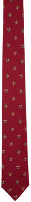 Paul Smith Red Floral Blade Tie