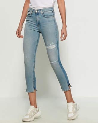 Rag & Bone Road Straight Leg Distressed Crop Jeans