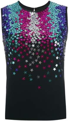 DSQUARED2 star sequin-embellished sleeveless top