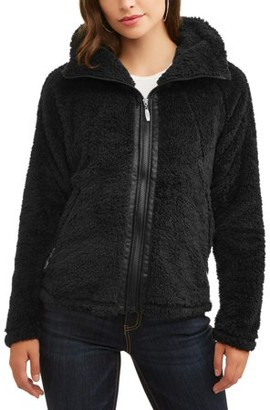 Climate Concepts Women's Fluffy Fleece Full Zip w/ Convertible Collar