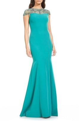 Women's Theia Embellished Stretch Mermaid Gown $1,295 thestylecure.com